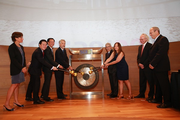 IPO Sounding the gong for the opening of trading