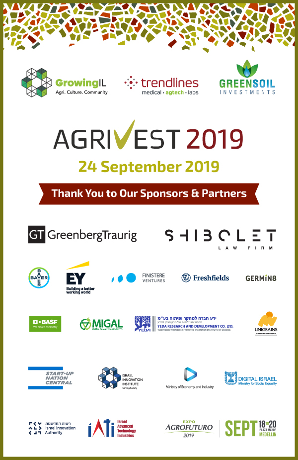 Thank you to our AgriVest 2019 sponsors