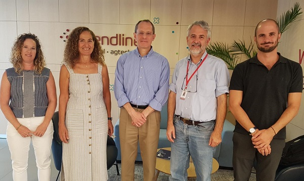 We welcomed Start-Up Nation Central CEO Professor Eugene Kandel (center) to our Misgav, Israel, offices on 5 August 2019. The visit gave Prof. Kandel in-depth understanding of what we do, especially in agtech. Pictured (l to r): Trendlines Agtech VP Business Development Sarai Kemp, Trendlines Agrifood Pte. Ltd. CEO Nitza Kardish, Prof. Kandel, Trendlines Chairman and CEO Steve Rhodes, Professional Advisor to Prof. Kandel Gabriel Levy.