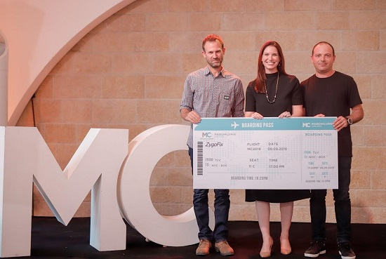 Congratulations! ZygoFix is a 2019 MassChallenge Israel winner. Above, left: ZygoFix CEO Ofer Levy.