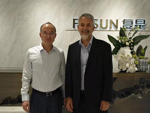 Chairman of Fosun International Guangchang Guo met with Trendlines Chairman and CEO Steve Rhodes.