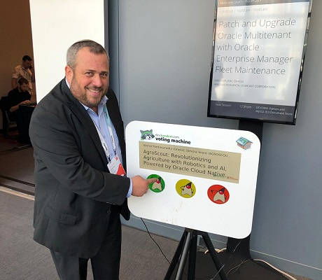 AgroScout CEO Simcha Shore presented at Oracle OpenWorld, San Francisco, 16-19 September 2019.