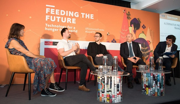 Hargol CEO Dror Tamir (2nd from right) on the panel at Feeding the Future, London, 26 September 2019