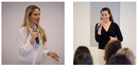 VP Trendlines Agtech, Maya Schushan Orgad, PhD, (at left) and Phytolon CTO, Tal Zeltzer, PhD, were among the speakers at Women in Agrifood Tech at Facultech, 25 December 2019.