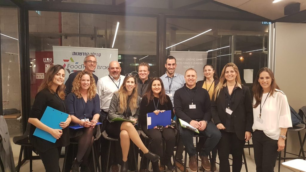 Trendlines Agtech, VP Business Development, Sarai Kemp (front, 2nd from left), participated as a judge at the Startup on the Grill Foodtech, Open Valley Yoqneam, Israel, 7 January 2020.